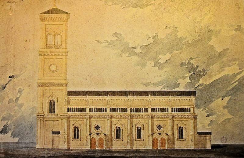 Szkalnitzky Antal neoromán stílusú templom terve