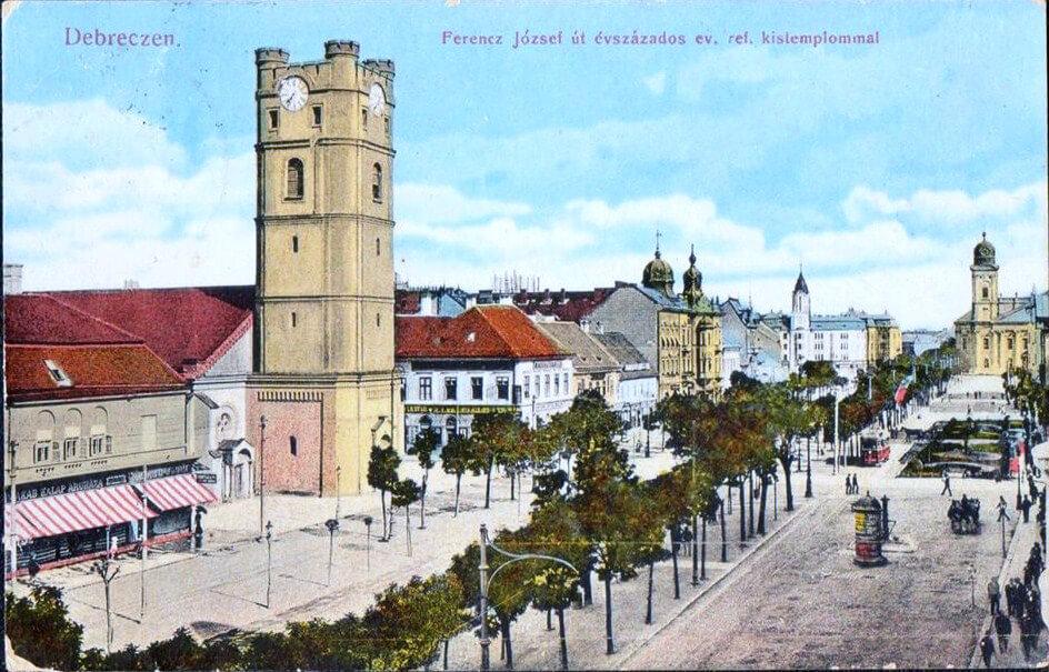 Képeslap a Kistemplommal az 1900-as évek elejéről
