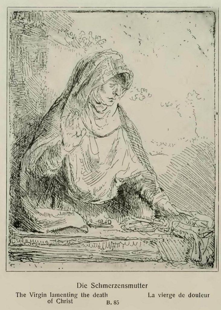 Rembrand - Fájdalmak anyja kép