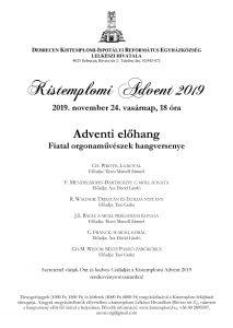 Adventi előhang plakát
